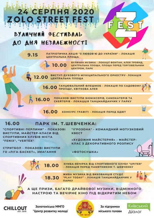 У Золотоноші на День незалежності проведуть вуличний фестиваль